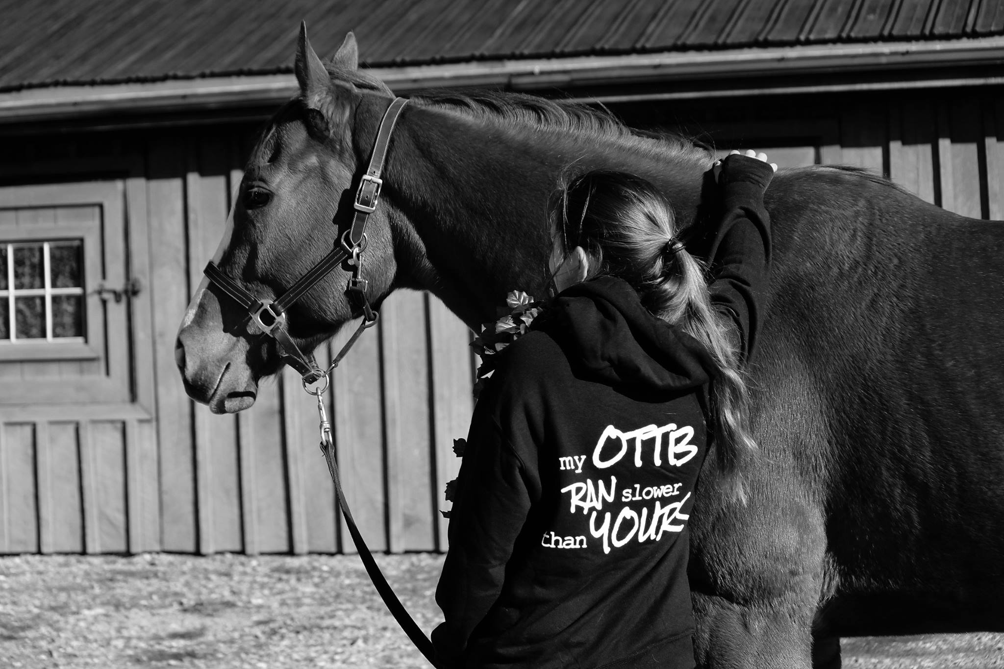 My OTTB ran SLOWER than yours Hoodie
